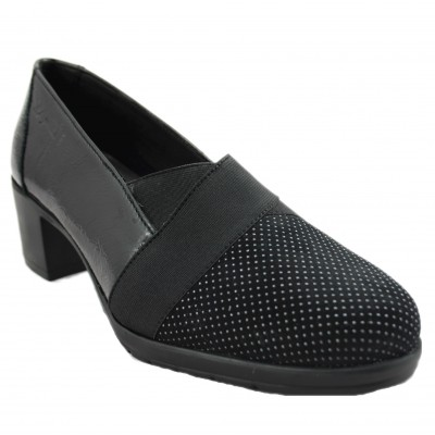 24 Horas 24280 - Black Women's Shoes with Metal Toe Details