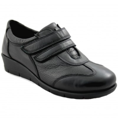 Doctor Cutillas 60303 - Women's Leather Sports Shoes with Two Velcro and Wedge Closure