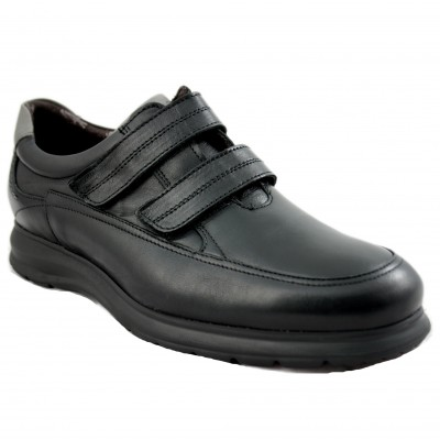 Fluchos F0608 - Black Men's Shoe with Velcro Closure Especially Comfortable