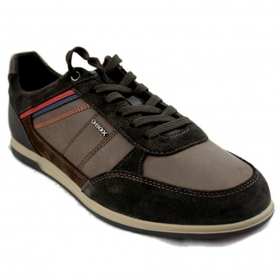 Geox Renan - Men's Casual Shoe Dark Brown
