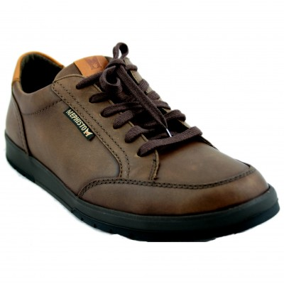 Mephisto Ludo - Brown Leather Shoes with Laces and Goretex System