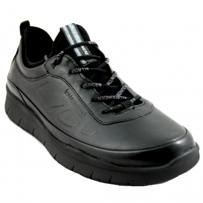 Mephisto Maniko - Men's Sports Black Leather Shoes with Laces