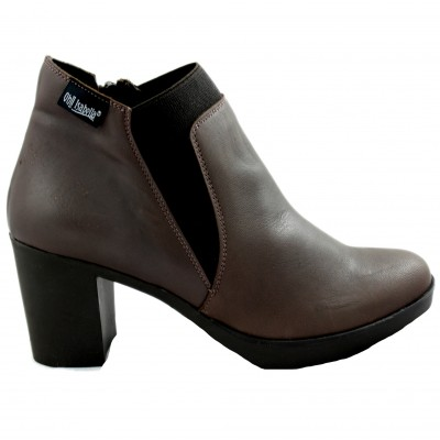 New Annya Leather Ankle Boots with High Heel