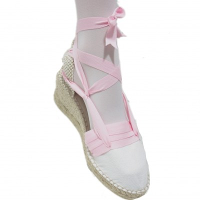 Espadrilles Wedge High Tres Vetes Light Pink
